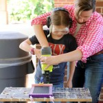 DIY Chalkboard Memo Board (4th grade project) | Pretty Handy Girl