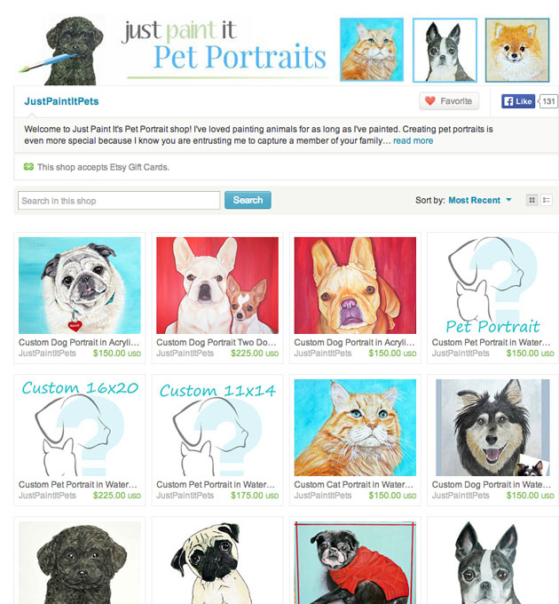 Just Paint It Pet Portraits