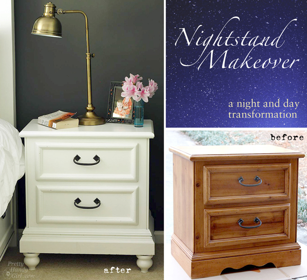 Updating a Knotty Pine Nightstand | Pretty Handy Girl