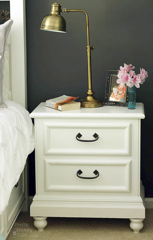 Lowes Paint App >> Updating a Nightstand {Lowe's Creative Idea} - Pretty ...