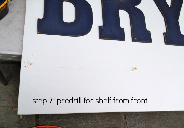 presonalized wall shelf step 7