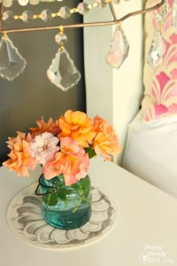 Roses under Pendant Light | Pretty Handy Girl