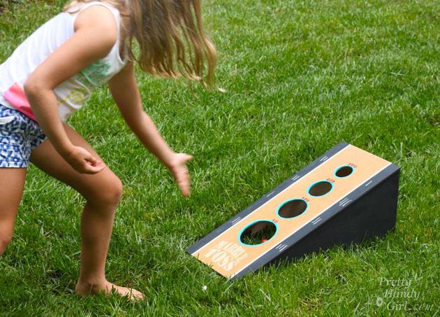 DIY Marble Toss Game   Pretty Handy Girl