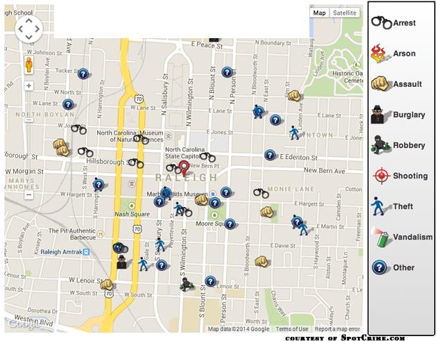 SpotCrime.com map