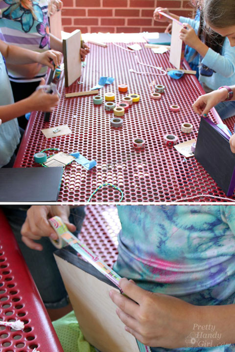 DIY Chalkboard Memo Board (4th grade project)   Pretty Handy Girl