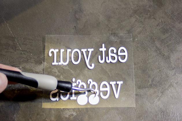 Weeding vinyl for hostess gift idea