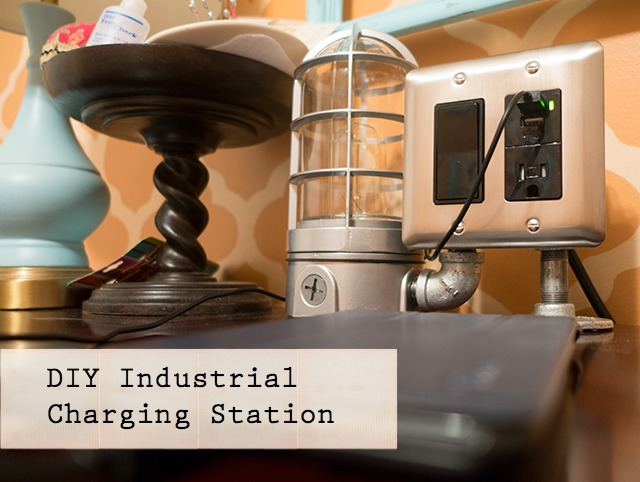 Diy Industrial Usb Charging Station Pretty Handy Girl
