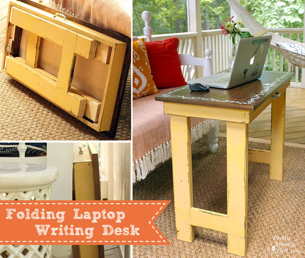 folding laptop writing table tutorial dremelmaker pretty handy girl. Black Bedroom Furniture Sets. Home Design Ideas