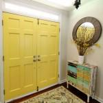 Benjamin Moore Yellow Highlighter Painted Interior Doors | Pretty Handy Girl