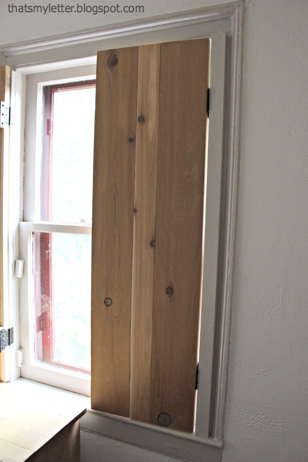 Interior Cedar Shutters Feature By Pretty Handy Girl
