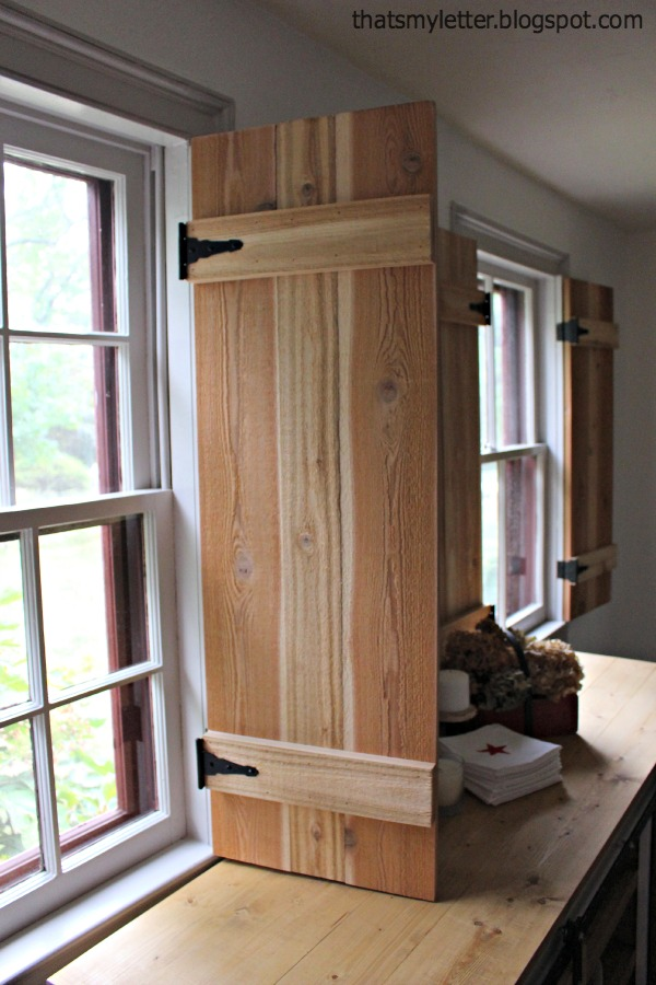 Diy interior cedar shutters pretty handy girl for Plantation shutter plans