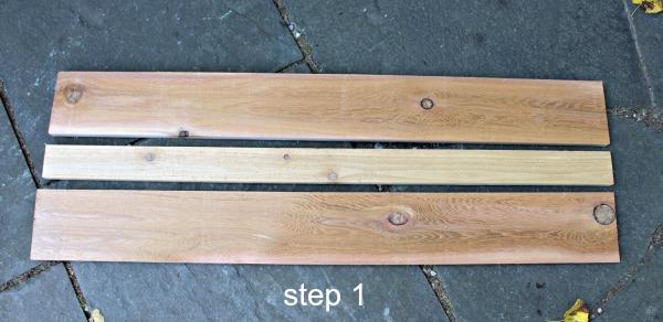 interior cedar shutters step 1
