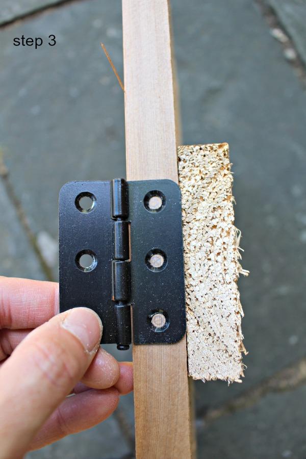 interior cedar shutters step 3