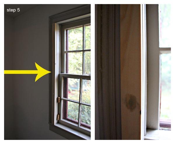 interior cedar shutters step 5