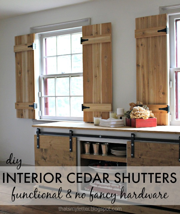 Diy interior cedar shutters pretty handy girl for Interior window shutter designs