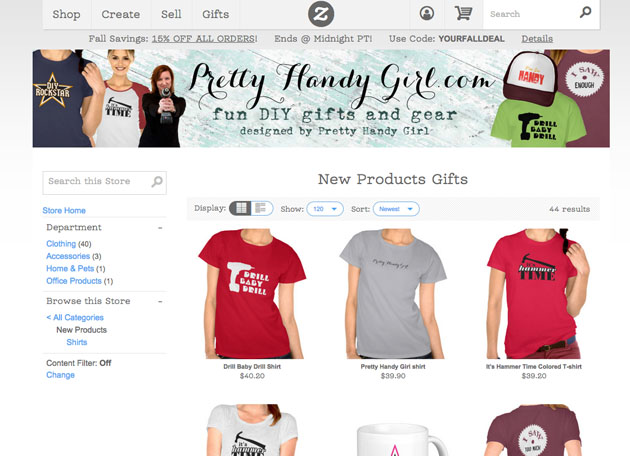 Pretty Handy Girl Gift Shirts and More