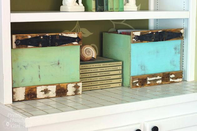 rustic-box-crates-in-bookshelves