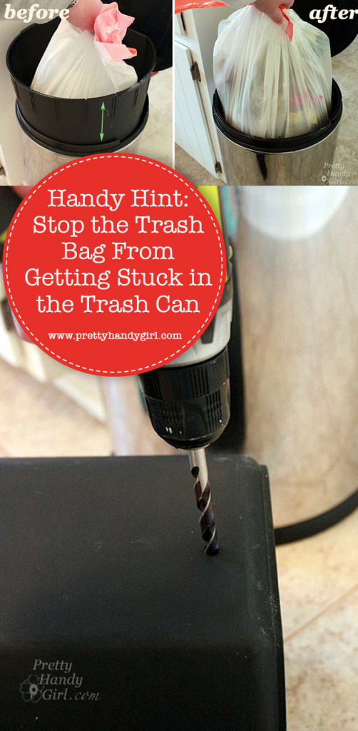 how to remove a trash bag that gets stuck in trash can
