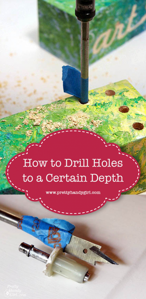 how to drill to a certain depth