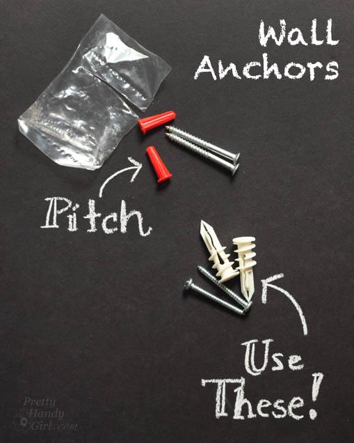 Good & Bad Wall Anchors | Pretty Handy Girl