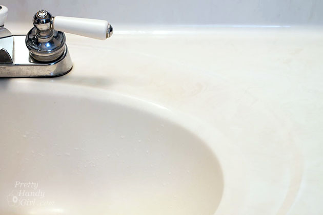 Scrub Away Hard Water Stains | Pretty Handy Girl