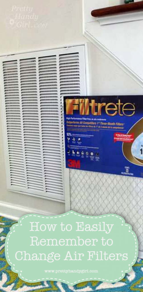 white air filter in home