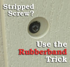 Stripped Screw? Use the Rubberband Trick | Pretty Handy Girl