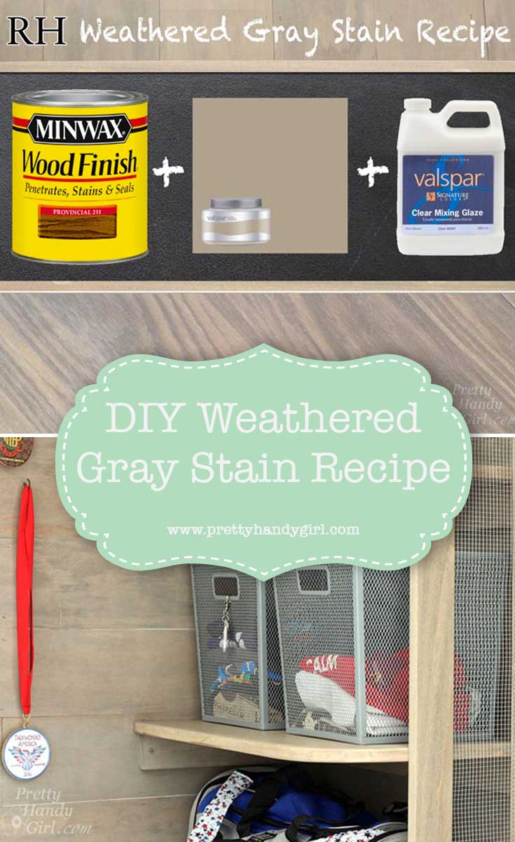 DIY weathered gray stain recipe