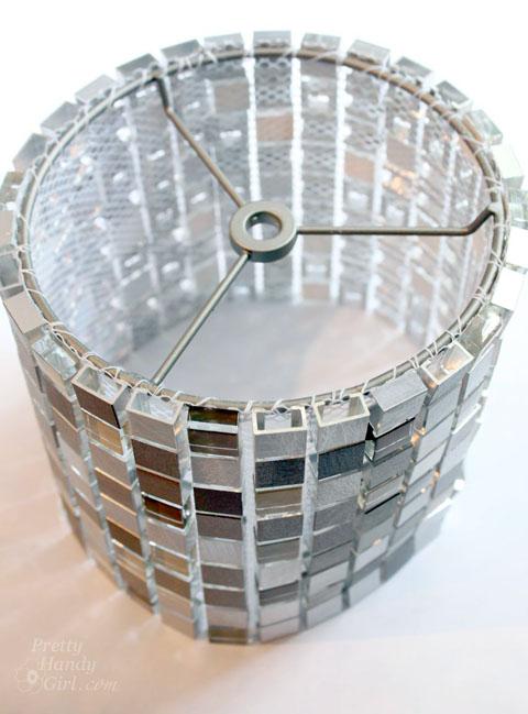How to make a mosaic tile lamp shade lowes creator make your own mosaic tile lampshade pretty handy girl aloadofball Choice Image