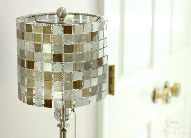 make your own lighting fixtures. Make Your Own Mosaic Tile Lampshade | Pretty Handy Girl Lighting Fixtures M