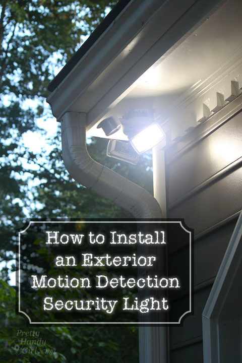 How to install sensor lights outside