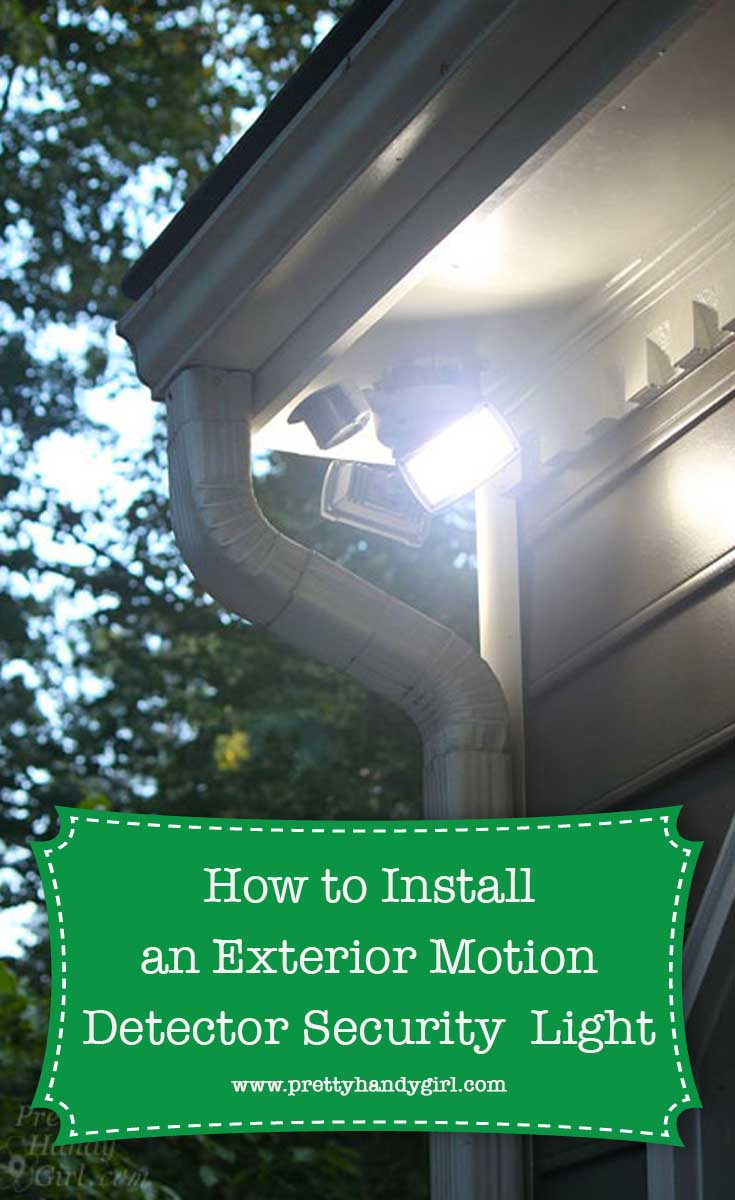 How To Install An Exterior Motion Sensor Light Wire Outdoor Junction Box Wiring Pin For Later