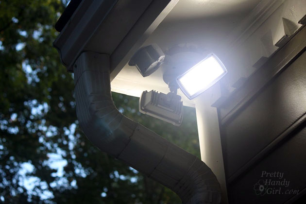 How to install an exterior motion sensor light how to install an exterior security light pretty handy girl mozeypictures Choice Image