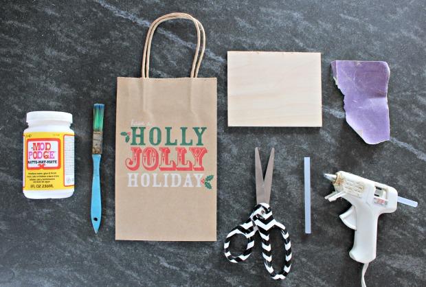 paper bag ornament supplies