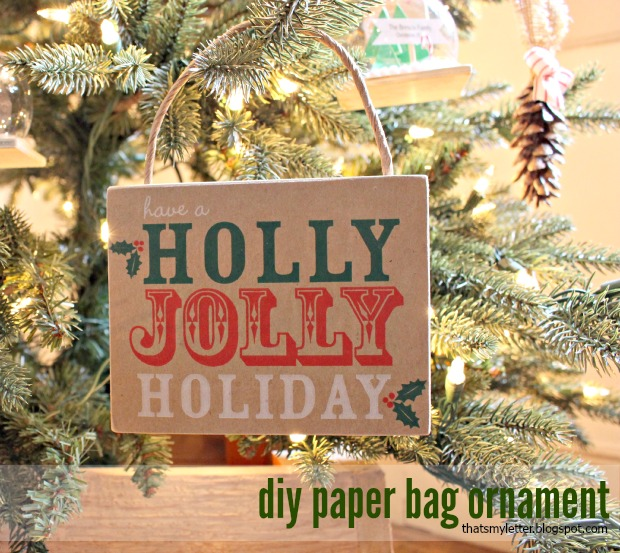 paper bag ornament