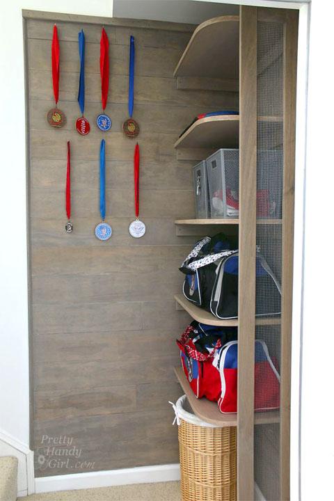 Sports Gear Storage Shelf
