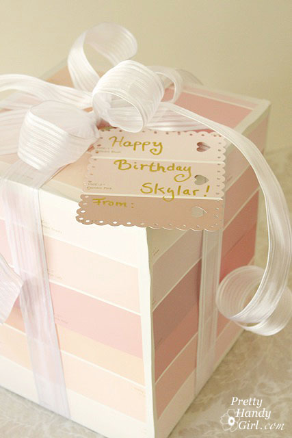 Paint Chip Gift Wrap