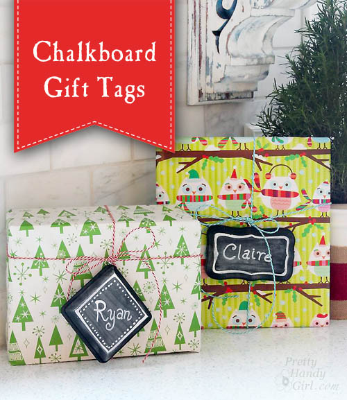 Chalkboard Gift Tags   Pretty Handy Girl