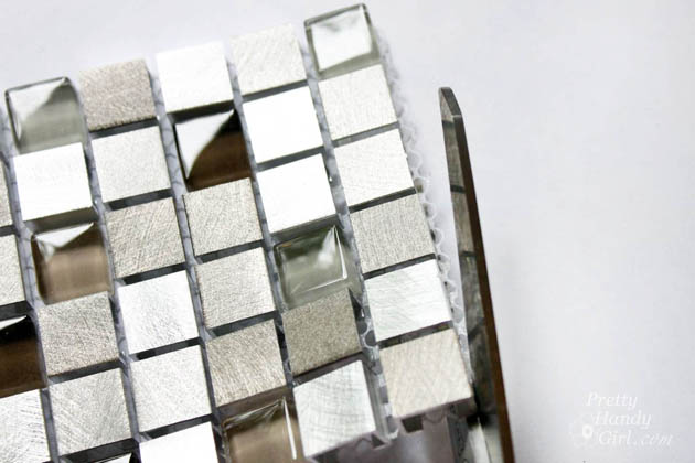 how to cut mosaic tile around outlets