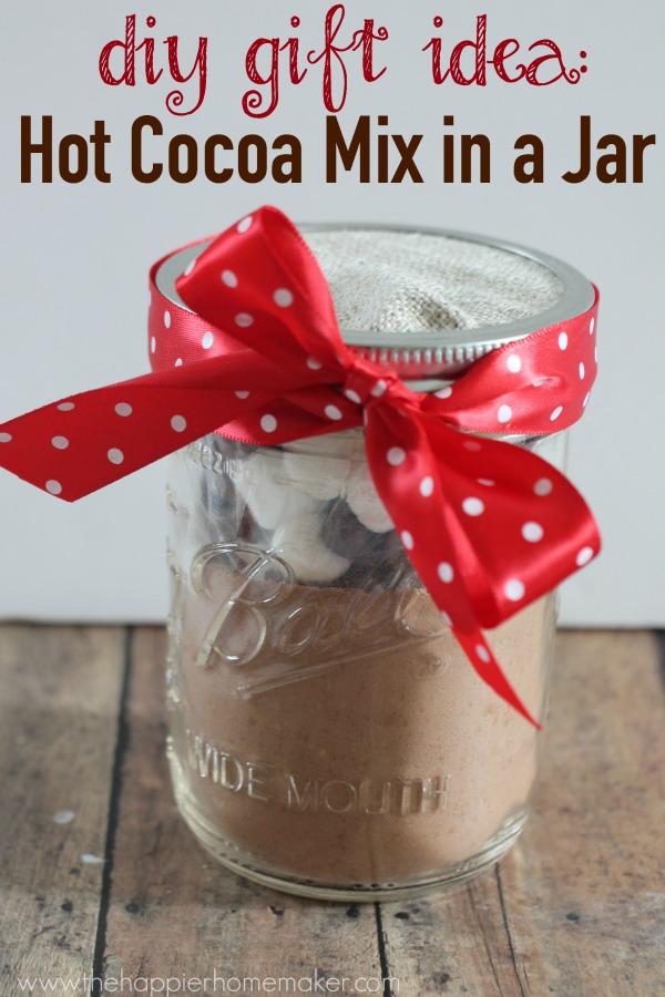 Hot Cocoa Mix in Mason Jar