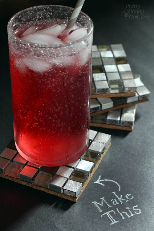 how to make mosaic tile coasters
