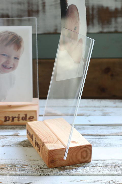 Wood Block Floating Picture Frames   Pretty Handy Girl