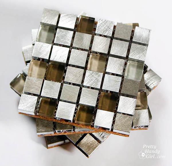 Mosaic Tile Coasters   Pretty Handy Girl