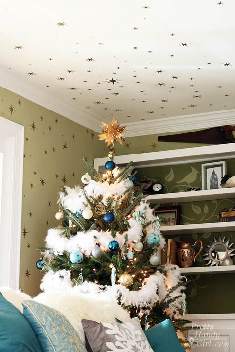 Starry Night Christmas Tree | Pretty Handy Girl