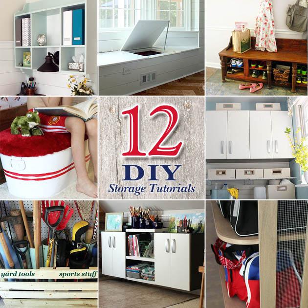 12 DIY Home Storage Tutorials | Pretty Handy Girl
