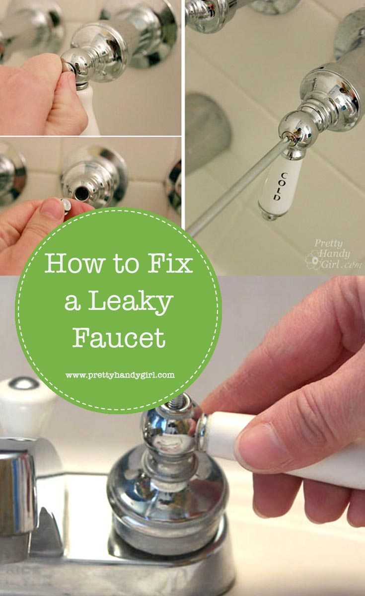 Leaky faucet? No problem with this easy and quick fix from Pretty Handy Girl! | #prettyhandygirl #DIY #plumbingfix