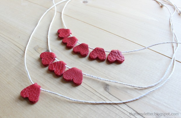 leather heart necklaces 1