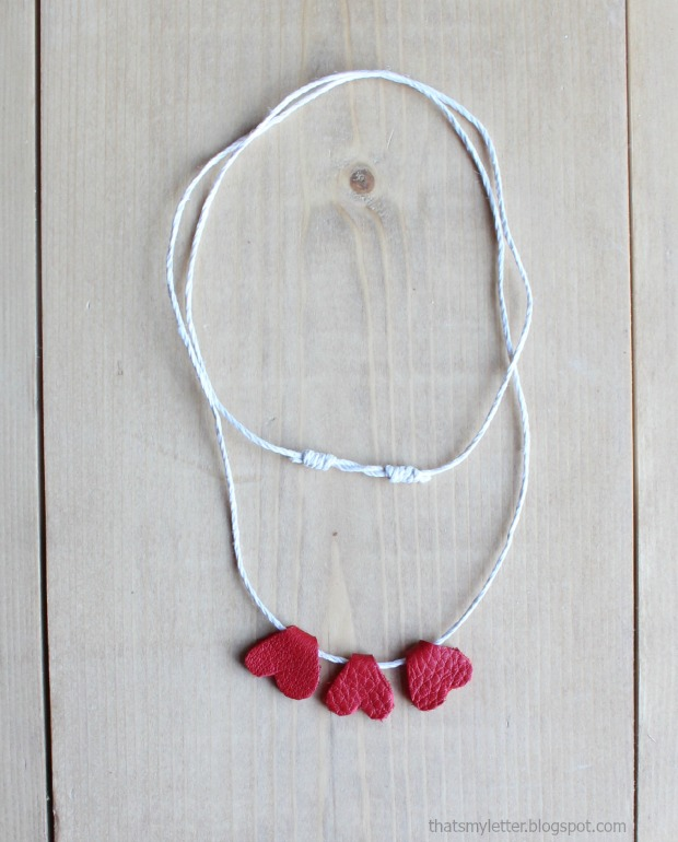 leather hearts necklace 2