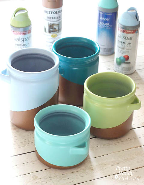 Metallic Color Block Canisters | Pretty Handy Girl
