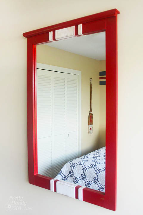 Racing Stripe Mirror Makeover | Pretty Handy Girl